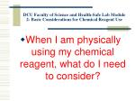 dcu faculty of science and health safe lab module 2 basic considerations for chemical reagent use7