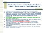 dcu faculty of science and health safe lab module 2 basic considerations for chemical reagent use8
