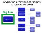 developing a portfolio of projects to support the goals2