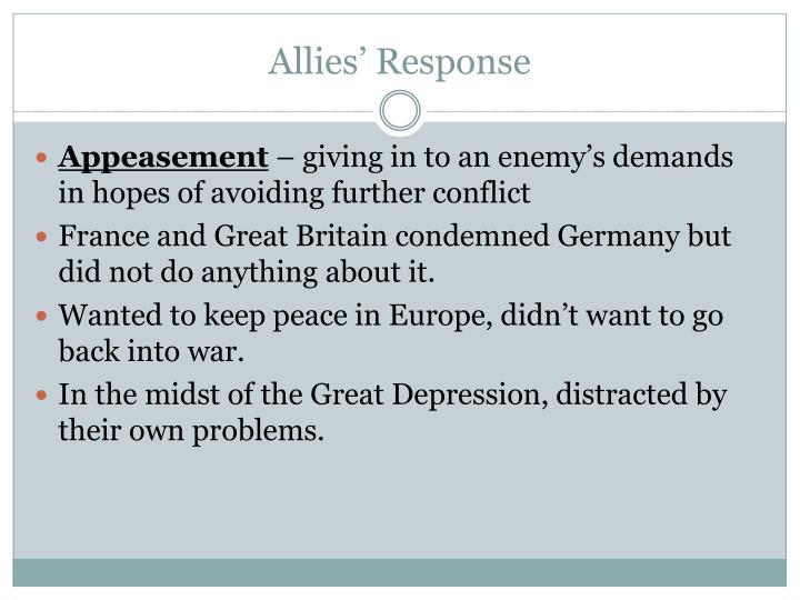 Allies' Response