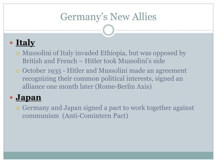 Germany's New Allies