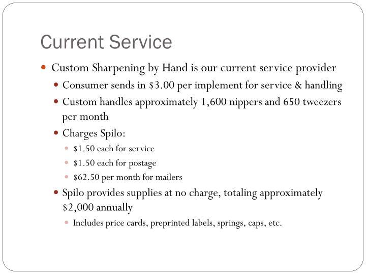 Current service