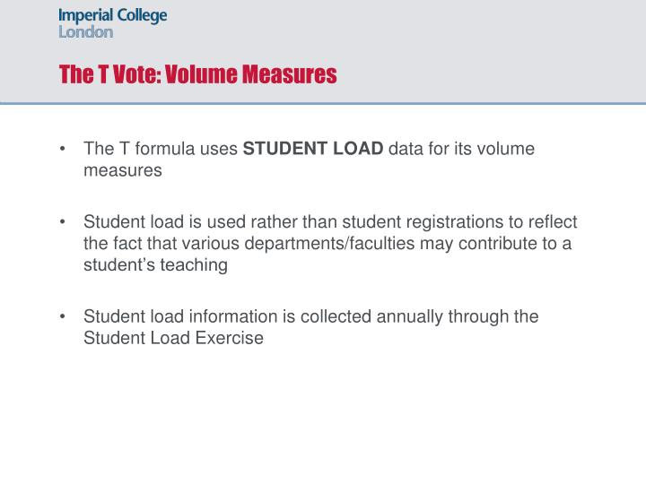 The T Vote: Volume Measures