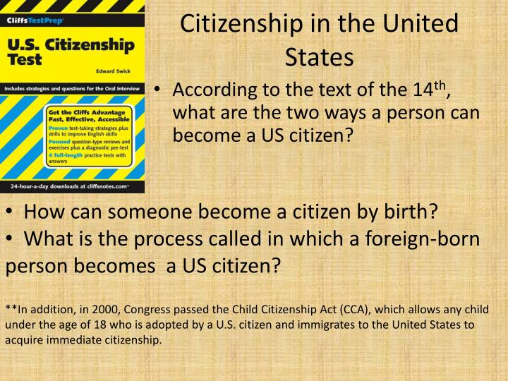 Citizenship in the United States