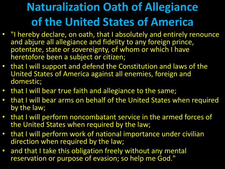 Naturalization Oath of Allegiance