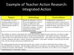 example of teacher action research integrated action