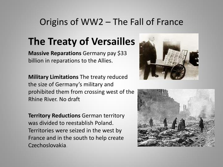 an essay on wwii hitler and the treaty of versailles