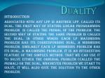 d uality
