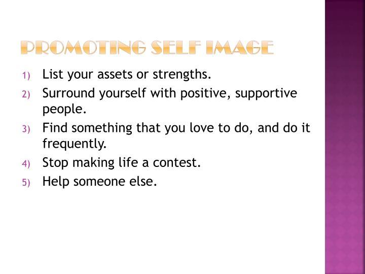 Promoting Self Image