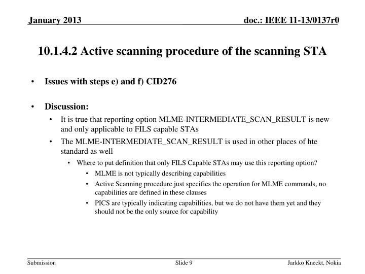 10.1.4.2 Active scanning procedure of the scanning