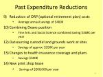 past expenditure reductions2