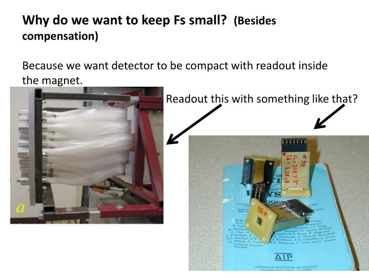 Why do we want to keep Fs small?