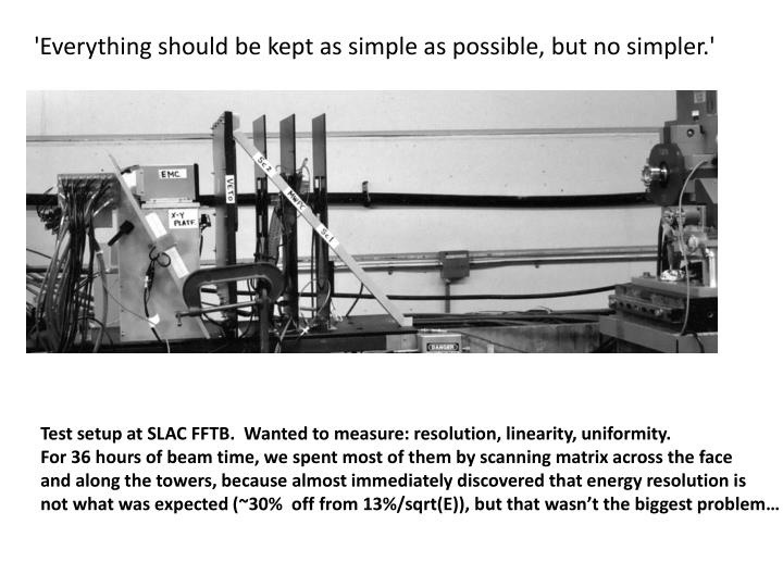 'Everything should be kept as simple as possible, but no simpler.'