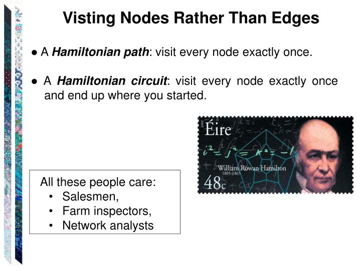 Visting Nodes Rather Than Edges