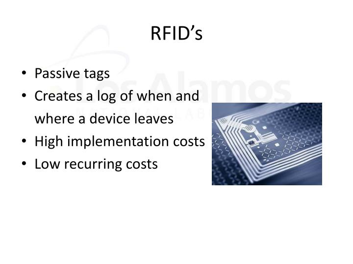 RFID's