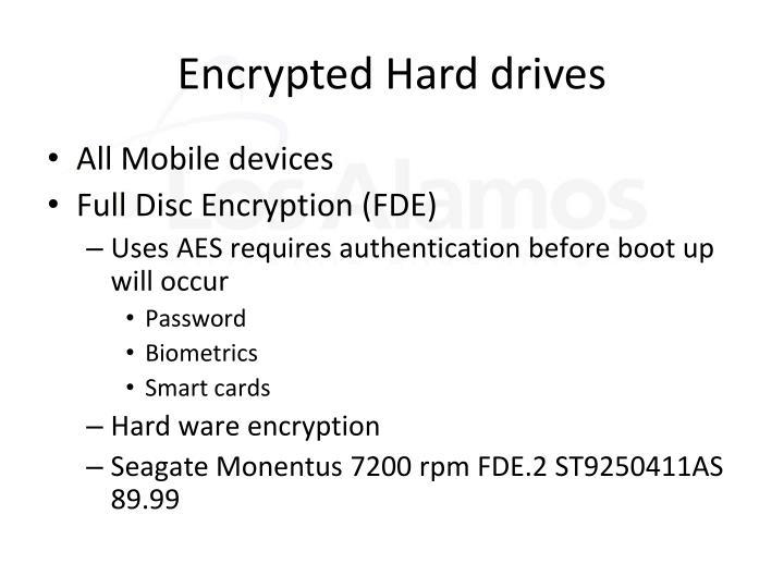 Encrypted Hard drives