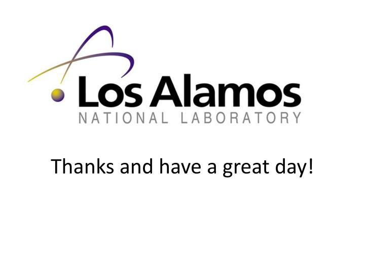 Thanks and have a great day!