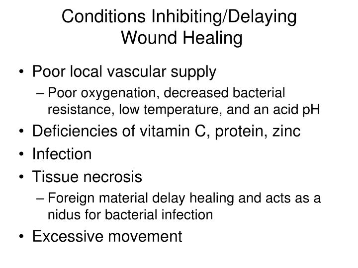 Conditions Inhibiting/Delaying
