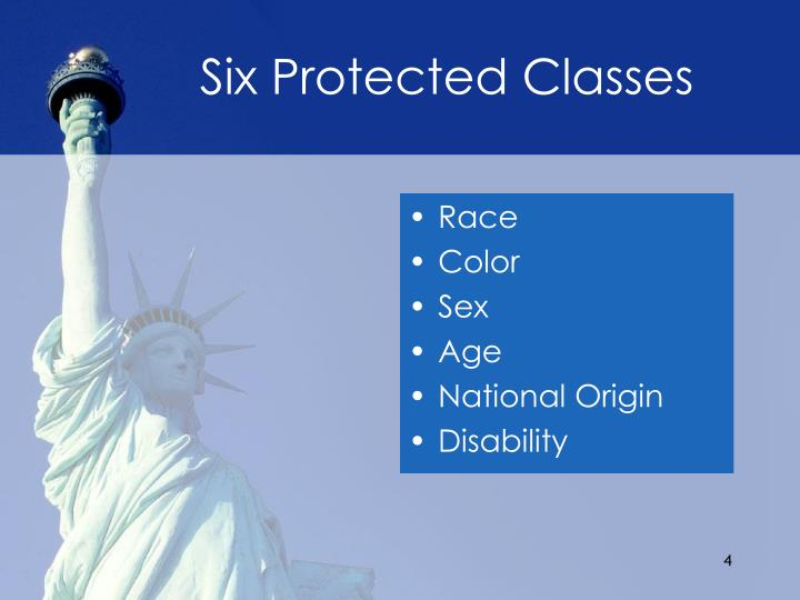 Six Protected Classes