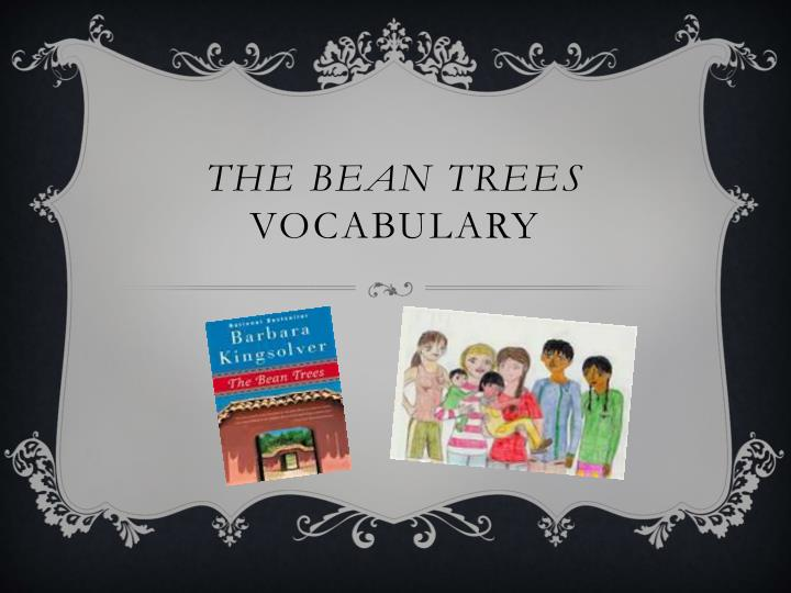 The bean trees vocabulary