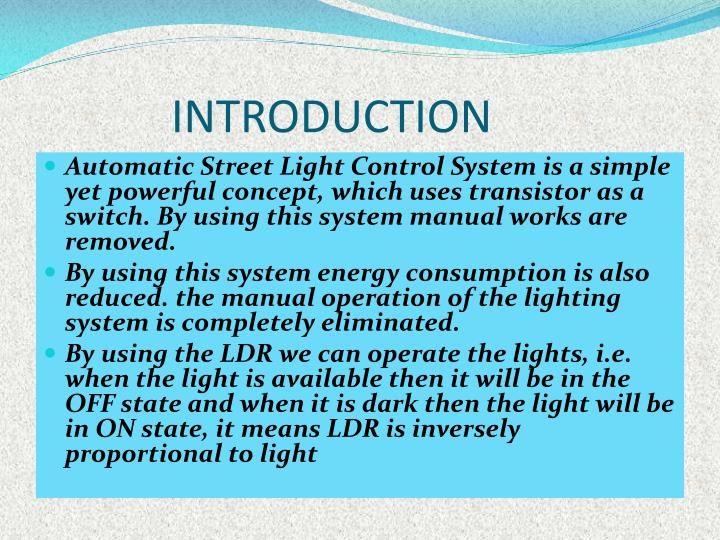 PPT - AUTOMATIC STREET LIGHT CONTROLLER PowerPoint Presentation - ID ...