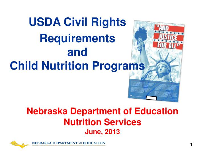 usda civil rights requirements and child nutrition programs n.