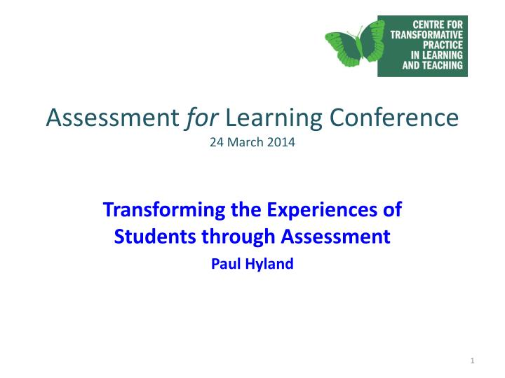 assessment for learning conference 24 march 2014