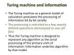 turing machine and information