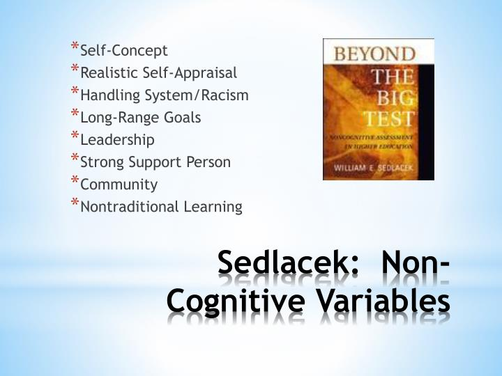 Sedlacek non cognitive variables