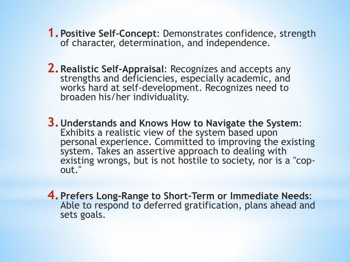 Positive Self-Concept