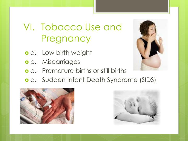Tobacco Use and Pregnancy