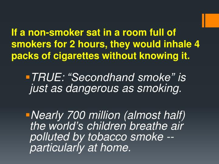 If a non-smoker sat in a
