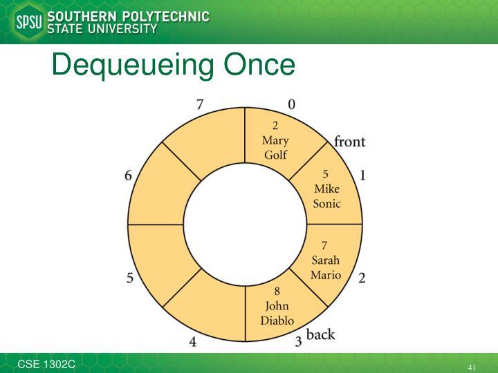 Dequeueing