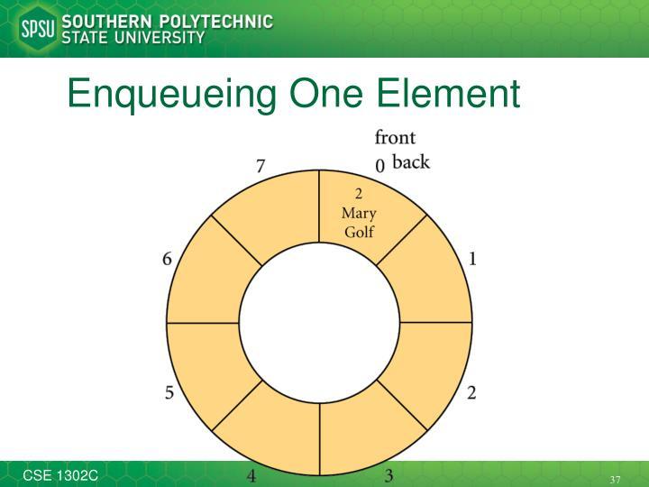 Enqueueing One Element
