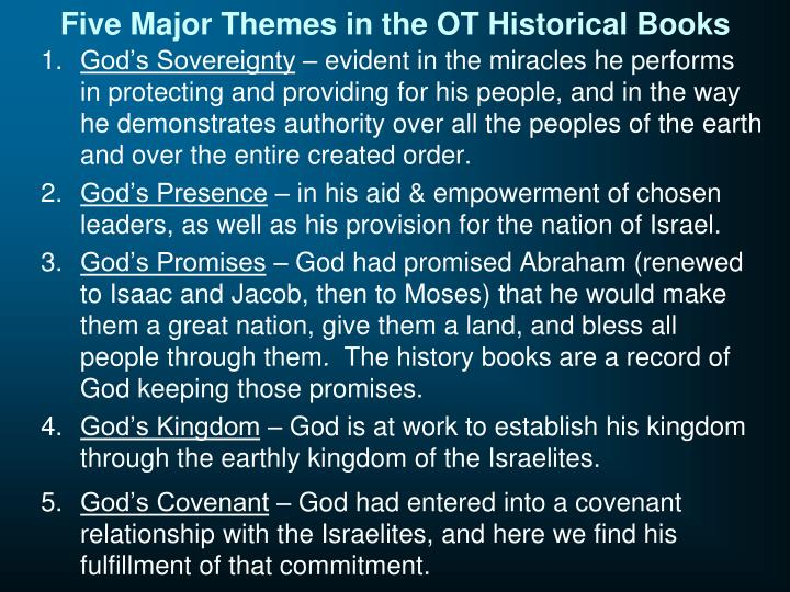 Five Major Themes in the OT Historical Books