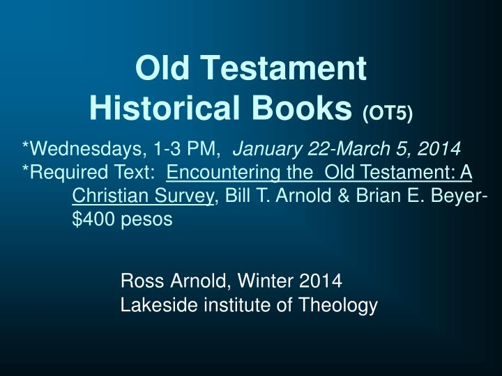 Old testament historical books ot5