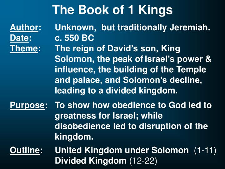 The Book of 1 Kings
