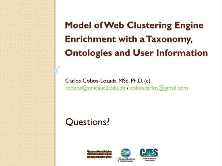 Carlos Cobos-Lozada MSc. Ph.D. (c)