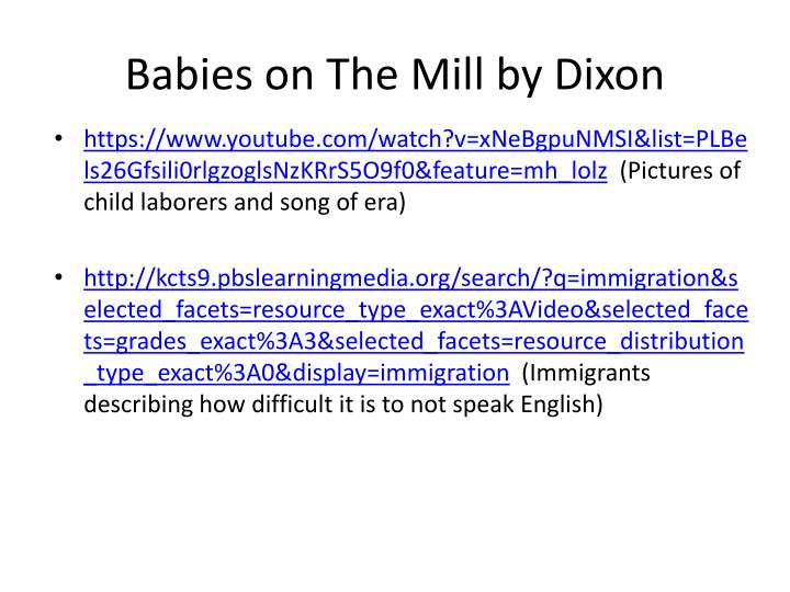 Babies on the mill by dixon