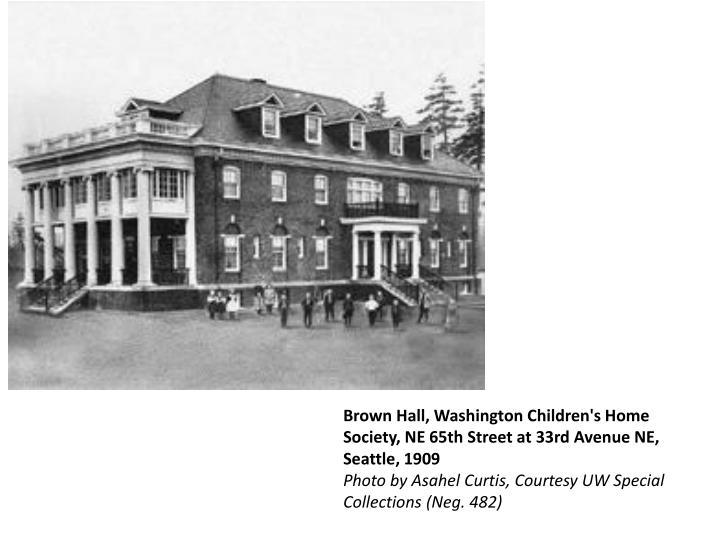 Brown Hall, Washington Children's Home Society, NE 65th Street at 33rd Avenue NE, Seattle, 1909