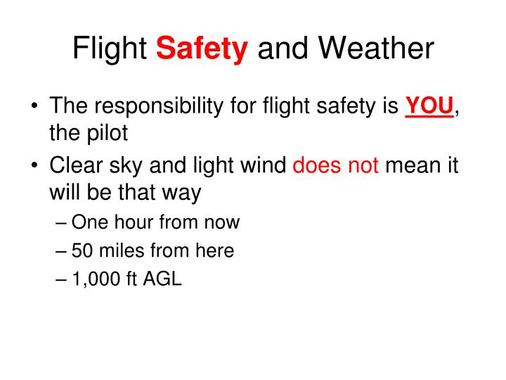 flight safety and weather n.