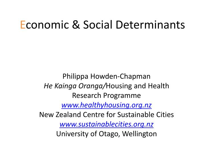e conomic social determinants