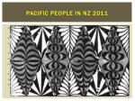 pacific people in nz 2011