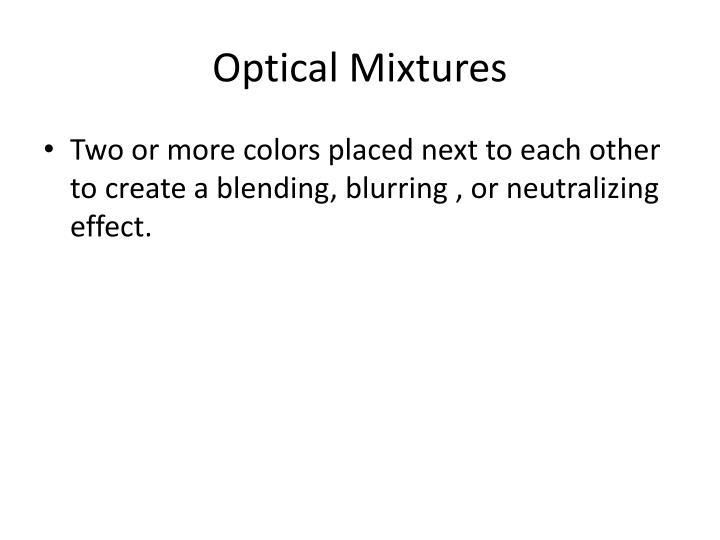 Optical Mixtures