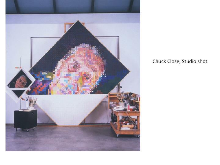 Chuck Close, Studio shot
