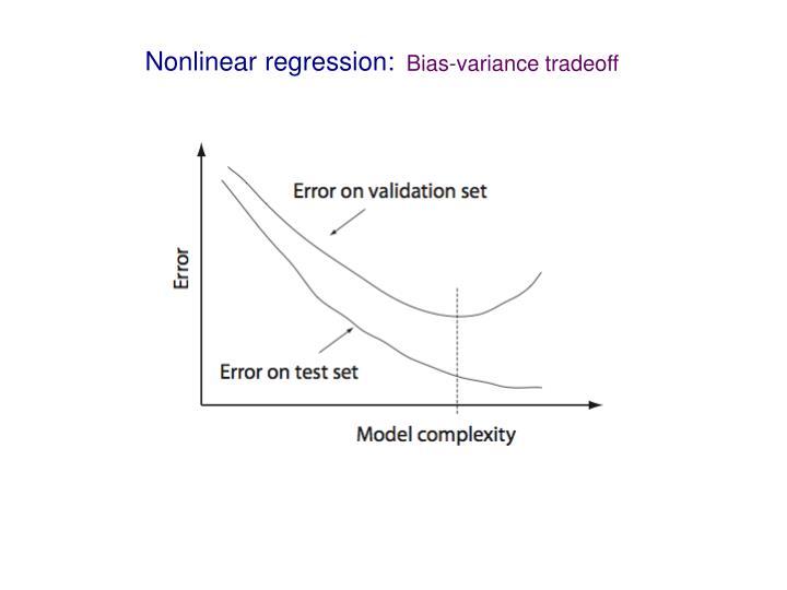 Nonlinear regression: