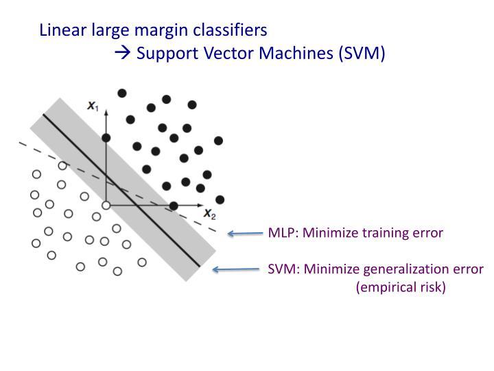 Linear large margin classifiers