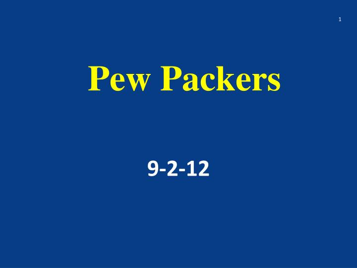 pew packers n.