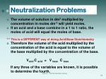 neutralization problems