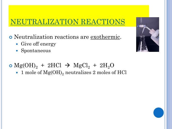 Neutralization reactions1